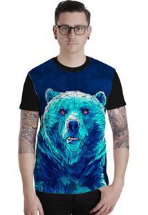 Camiseta Lucinoze Camisetas Manga Curta Urso Preto