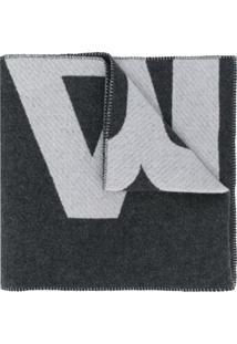 Isabel Marant Cachecol De Tricô Com Estampa De Logo - Cinza