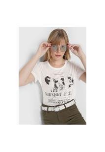 Camiseta Colcci Midnight Black Branca