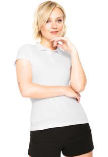 Camisa Polo Manga Curta Malwee Botões Branca