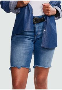 Bermuda Feminina Jeans Stretch Marisa