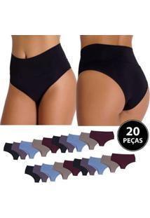 Kit Calcinha Rubi Cós Duplo 20 Peças Compras De Lingerie Multicolorido - Feminino