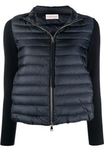 Moncler Contrast Sleeves Padded Jacket - Azul