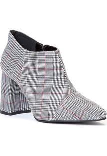 Ankle Boot Xadrez - Branca & Pretaamaro