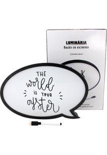 Luminária Light Box Adoraria De Balão De Fala Para Escrever