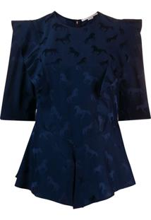 Stella Mccartney Blusa Jacquard - Azul