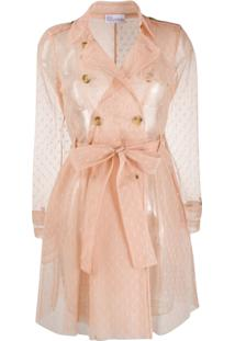 Red Valentino Point D'Esprit Tulle Trench Coat - Neutro