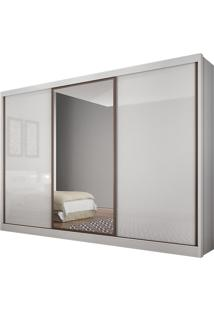 Guarda Roupa Casal Novo Horizonte Spazzio 6 Gavetas Espelho Branco