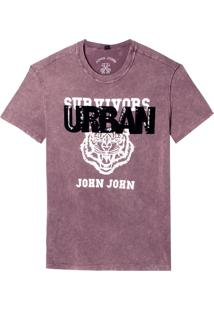 Camiseta John John Urban Tiger Feminina (Vermelho Medio, G)