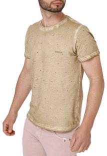 Camiseta Manga Curta Masculina Marrom