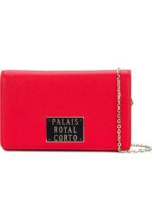 Corto Moltedo Bolsa Clutch 'Royal' De Couro - Vermelho
