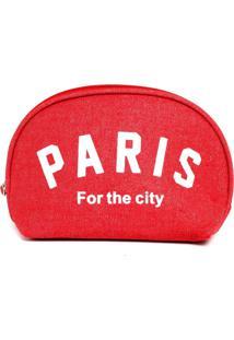 Necessaire Bolsine Paris Vermelha