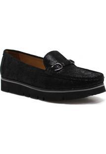 Sapato Mocassim Zariff Shoes Flatform Preto