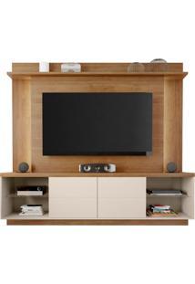 Estante Home Painel Para Tv Até 65 Pol. Lumino Buriti/Off White - Caemmun