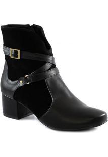 Bota Salto Bloco Numeração Especial Sapato Show 2590970