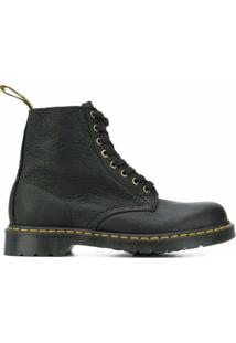 Dr. Martens Ankle Boot Com Cadarço - Preto