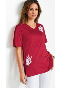 Blusa Com Fendas Vermelha