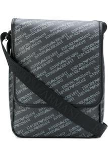 Emporio Armani Messenger Bag Estampada - Cinza