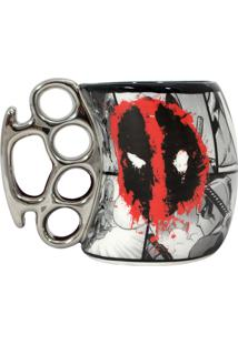 Caneca Soco Inglês Deadpool Geek10 Preto