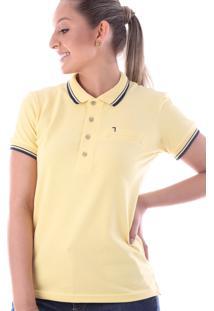 Camisa Polo Cp0720 Regular Traymon Amarelo Claro