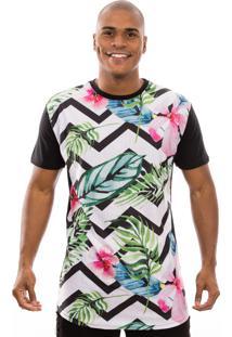 Camiseta Manga Curta Valks Longline Nature Preto