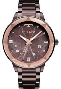 Relógio Technos Elegance Crystal Feminino - Feminino-Roxo