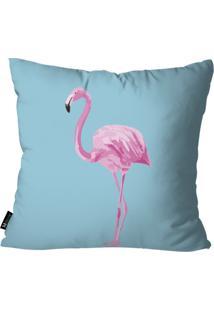 Capa Para Almofada Mdecore Flamingo Azul 55X55