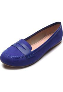 Mocassim Moleca Color Azul