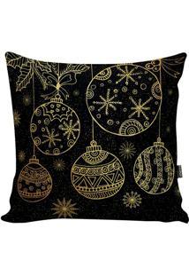 Capa Para Almofada New Christmas- Preta & Dourada- 4Stm Home