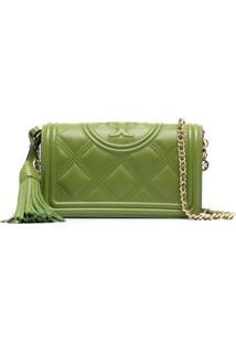 Tory Burch Fleming Soft Wallet Crossbody Bag - Verde