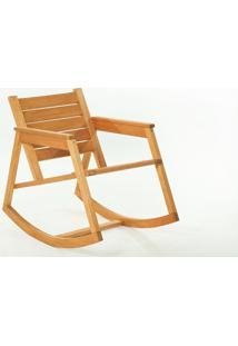 Cadeira De Balanço - Poltrona Para Varanda Janis Stain Jatobá - 60X92X80 Cm