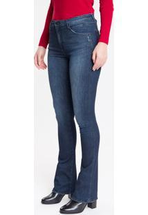 Calça Jeans Feminina Kick Flare Sculpted Cintura Média Azul Marinho Calvin Klein - 34
