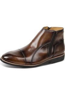 0244809f28 ... Bota Linha Premium Dress Boot Sandro Moscoloni 16730 Marrom Escuro