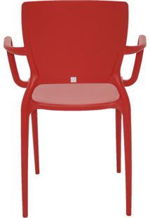 Cadeira Sofia Braços E Encosto Fechado Vermelho Tramontina