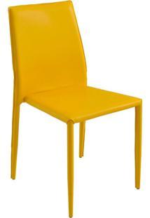 Cadeira Pvc Amanda-Rivatti - Amarelo