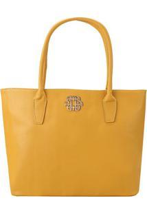 Bolsa Com Tag Da Marca- Amarelo Escuro- 29X34X15Cm