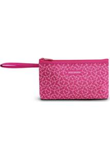 Necessaire Com Alça Jacki Design De Poliéster - Feminino-Pink