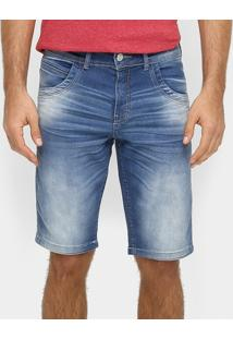 Bermuda Jeans Zune Estonada Skinny - Masculino