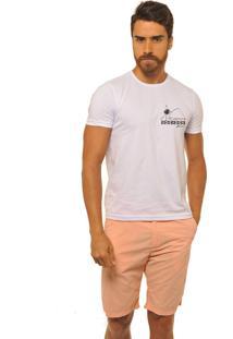T-Shirt Joss Mescla Premium Logo Passarela Branco