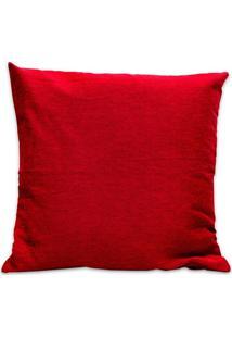 Capa Para Almofada Em Jacquard Paris 45X45Cm Vermelha