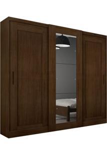 Guarda-Roupa Casal Com Espelho Coronata Castor 3 Pt 6 Gv