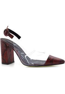 Sapato Chanel Com Transparência Suzzara