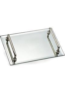 Bandeja Espelhada Requinte 30X20Cm