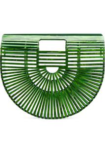 Cult Gaia Clutch Translúcida - Green
