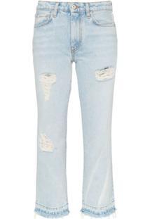 Heron Preston Calça Jeans Cropped - Azul