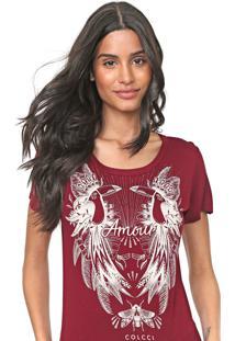Camiseta Colcci Tucanos Vinho