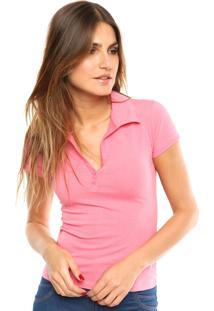 Camisa Polo Kohmar Lisa Rosa