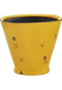 Cachepot Em Cerâmica Amarelo Ryan