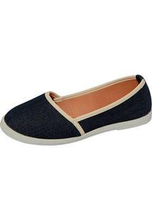 Alpargata Jane Jeans Azul Marinho