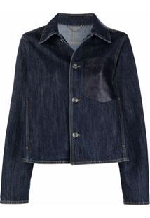 Salvatore Ferragamo Gancio-Pocket Denim Jacket - Azul